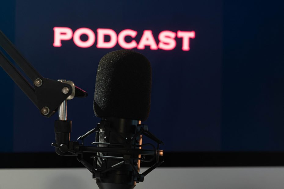 podcast image with microphone